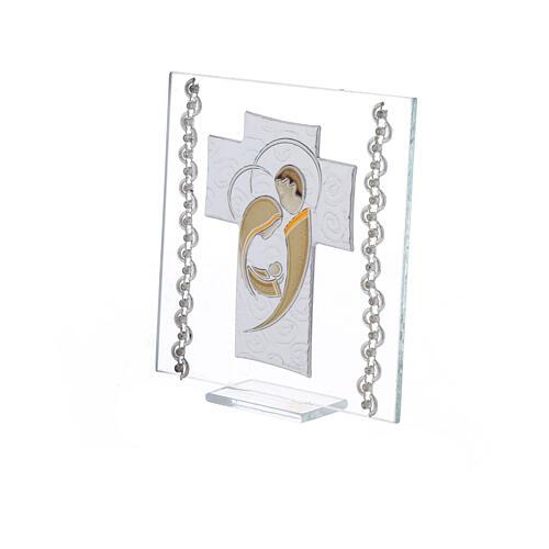 Quadretto Croce Sacra Famiglia 12x12 cm 2