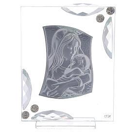 Cuadrito Virgen con Niño bilaminado 15x10 cm s3