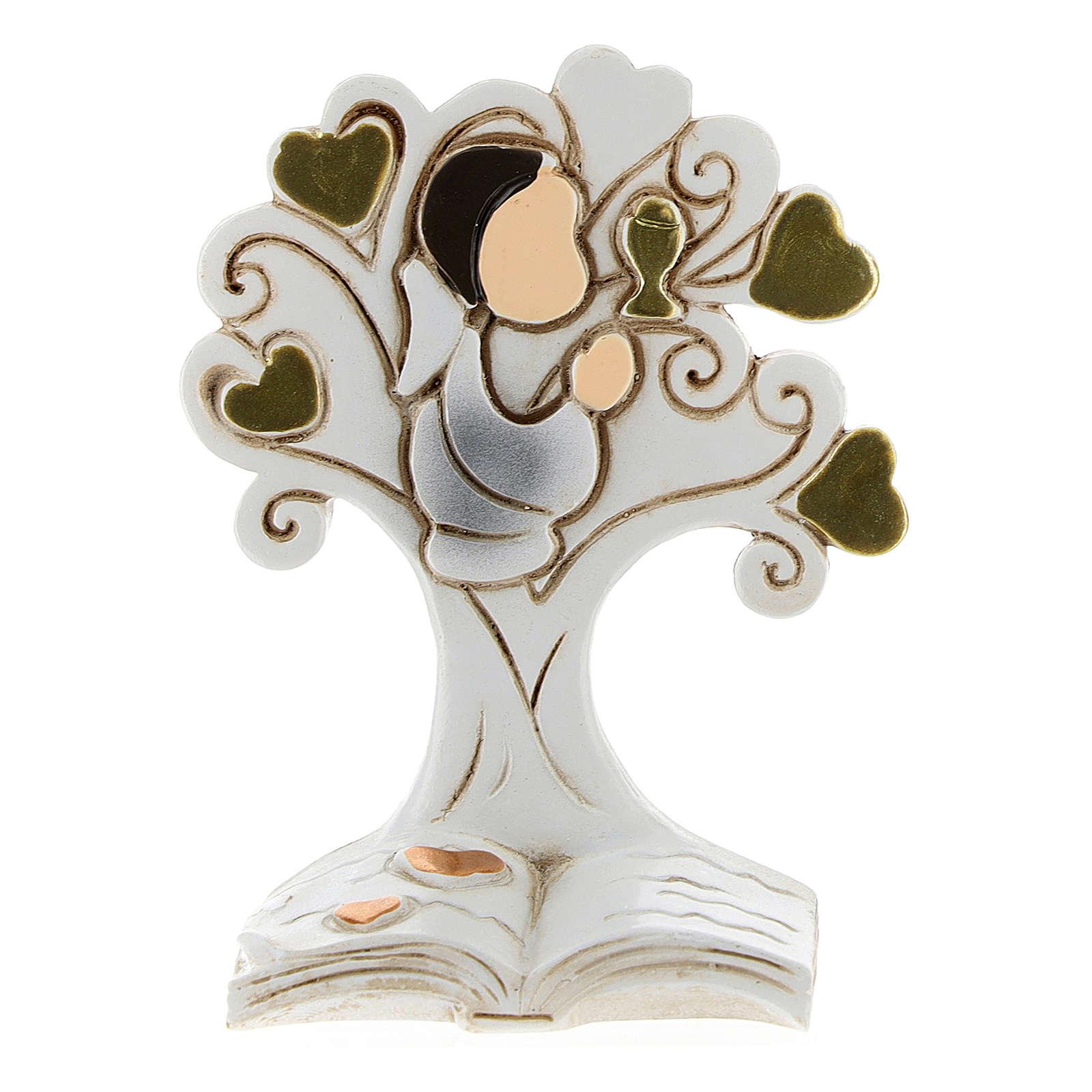 Recuerdo Comunión niño y árbol de la Vida 3