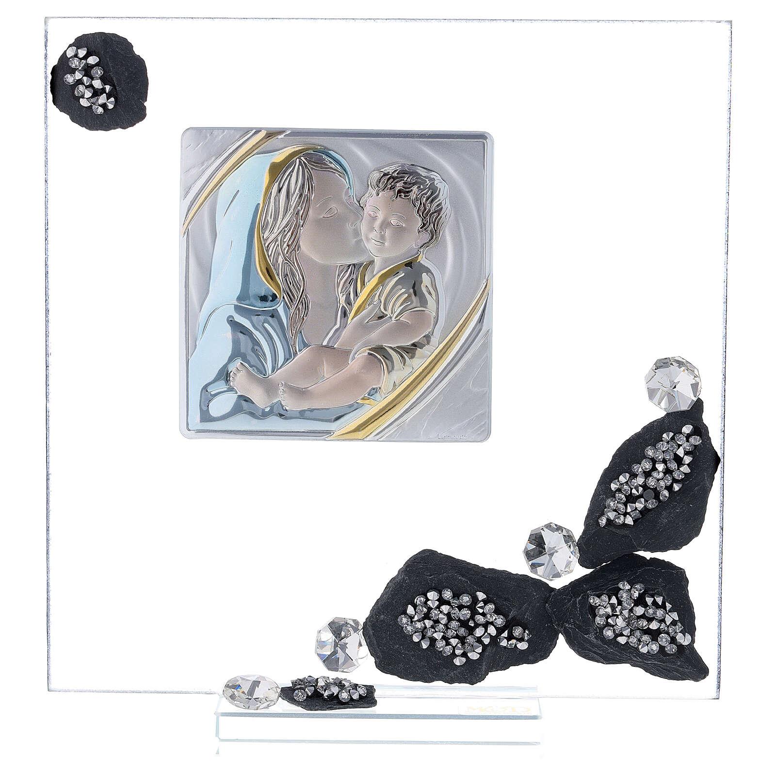 Quadretto vetro e ardesia maternità 3
