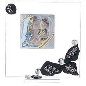 Quadretto vetro e ardesia maternità s1