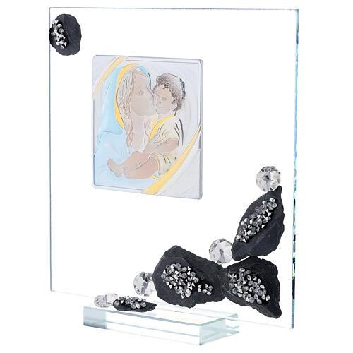 Quadretto vetro e ardesia maternità 2