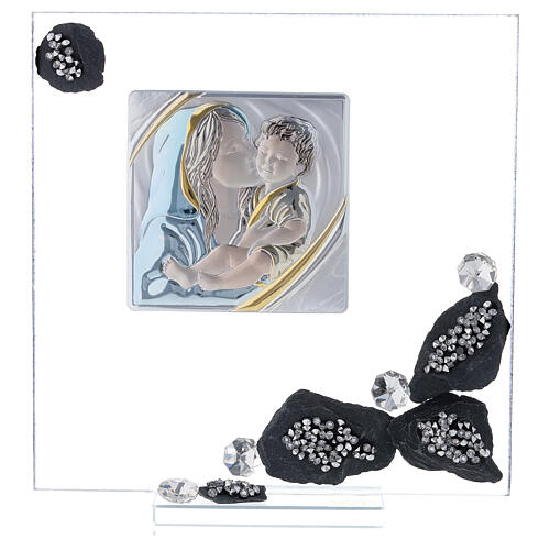 Picture glass and slate Maternity and rhinestones 1