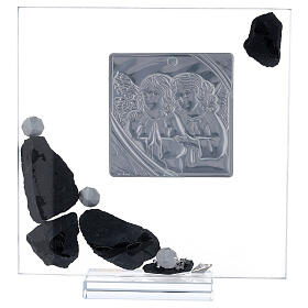 Picture glass and slate Angels and rhinestones s3