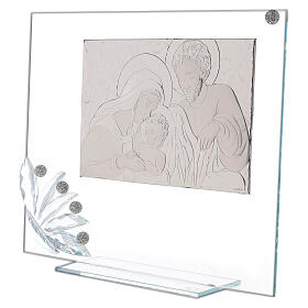 Glass picture Holy Family and transparent flower s2