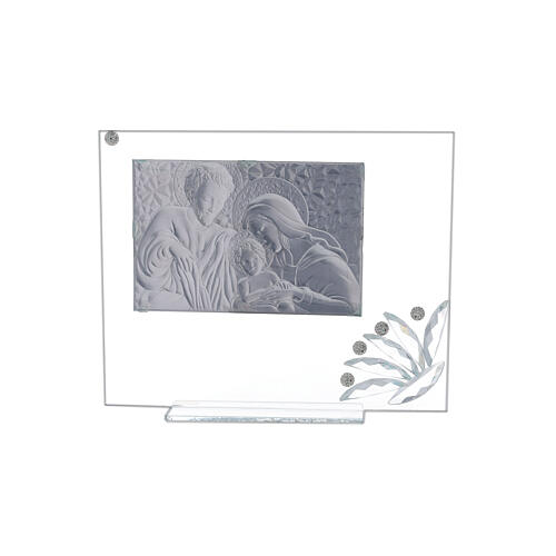 Glass picture Holy Family and transparent flower 3