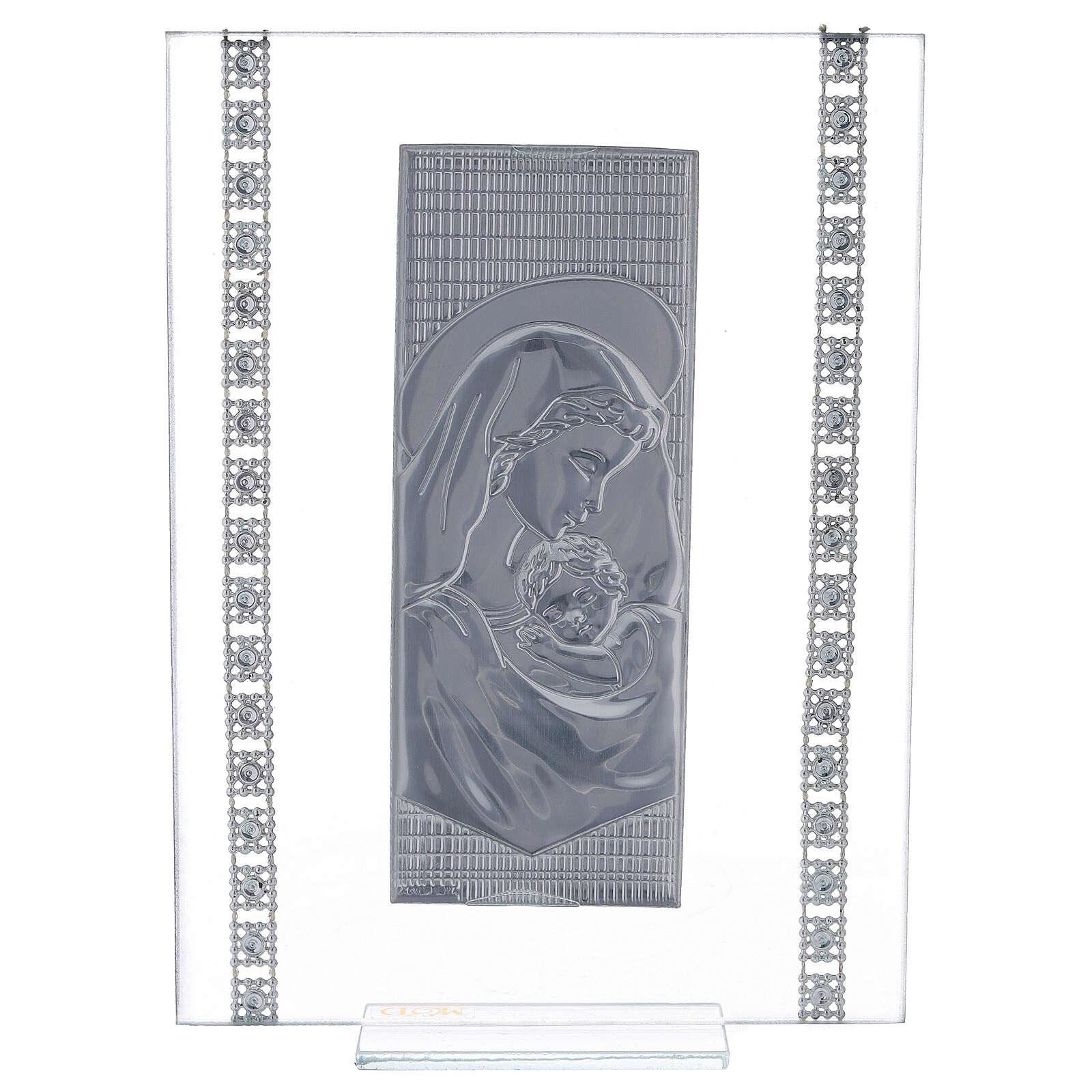 Cuadrito maternidad con cuentas strass vidrio 3