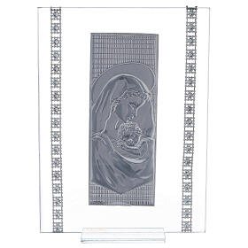 Cuadrito maternidad con cuentas strass vidrio s3