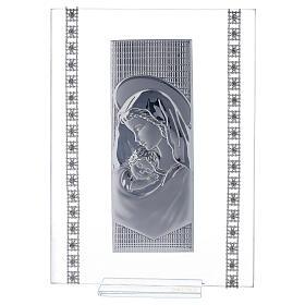 Quadretto maternità con strass vetro s1