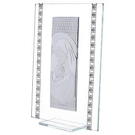 Quadretto maternità con strass vetro s2