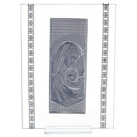 Quadretto maternità con strass vetro s3