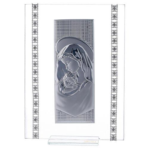 Quadretto maternità con strass vetro 1