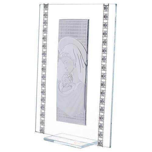 Quadretto maternità con strass vetro 2