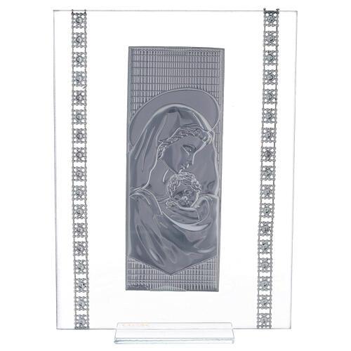 Quadretto maternità con strass vetro 3