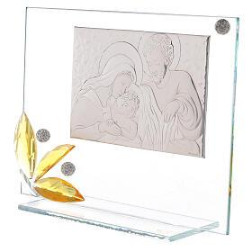 Cuadrito vidrio flor ambarina Sagrada Familia s2