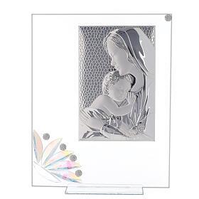 Cuadrito vidrio maternidad pétalos flores matices s1