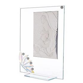 Cuadrito vidrio maternidad pétalos flores matices s2
