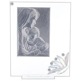 Cuadrito vidrio maternidad pétalos flores matices s3