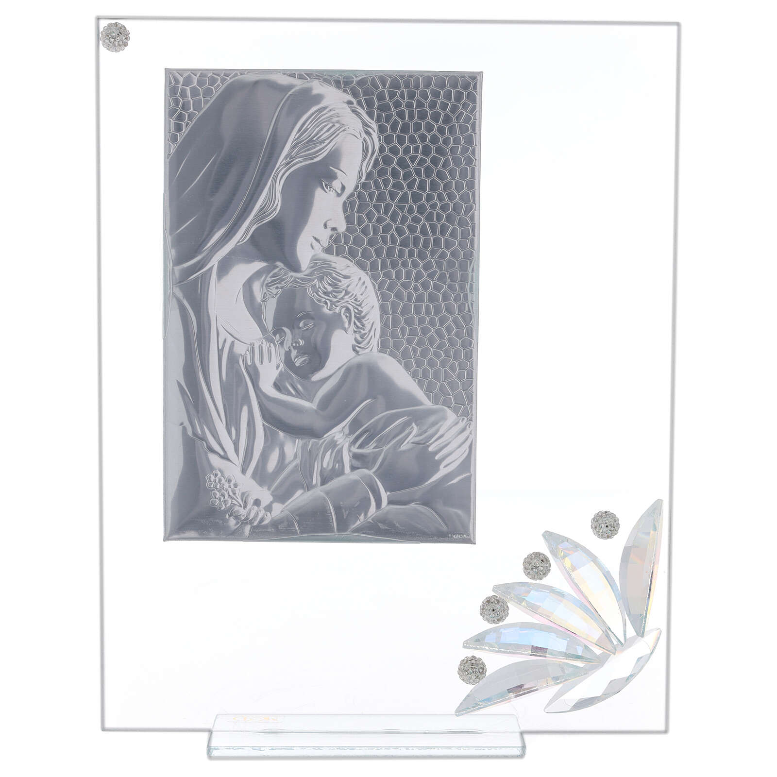Glass picture Maternity and glass iridescent flower 3