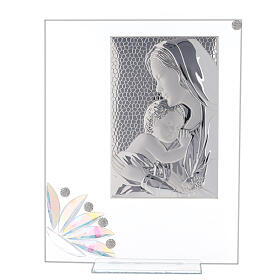 Glass picture Maternity and glass iridescent flower s1