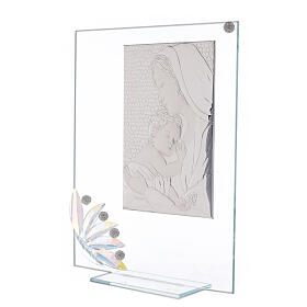 Glass picture Maternity and glass iridescent flower s2