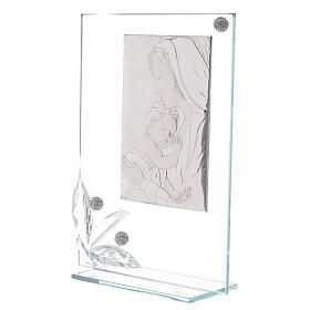 Quadretto maternità vetro e perline s2