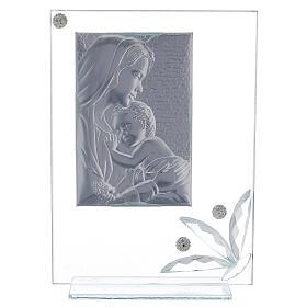 Quadretto maternità vetro e perline s3
