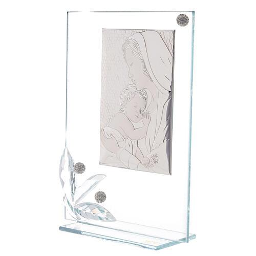 Quadretto maternità vetro e perline 2