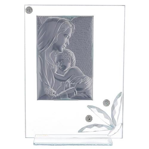 Quadretto maternità vetro e perline 3