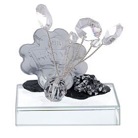 Holy Communion favor silver foil and slate s3