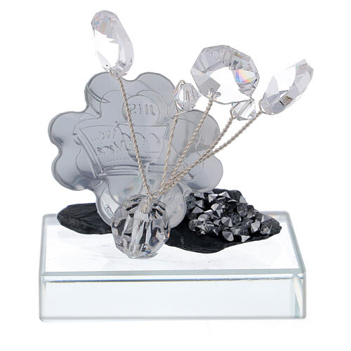 Holy Communion favor silver foil and slate 3