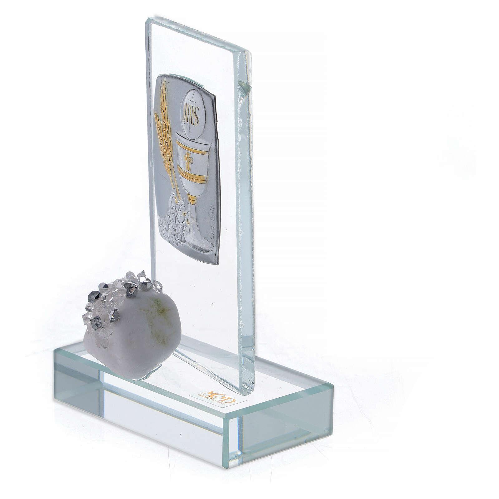Souvenir verre Communion calice et épis 3