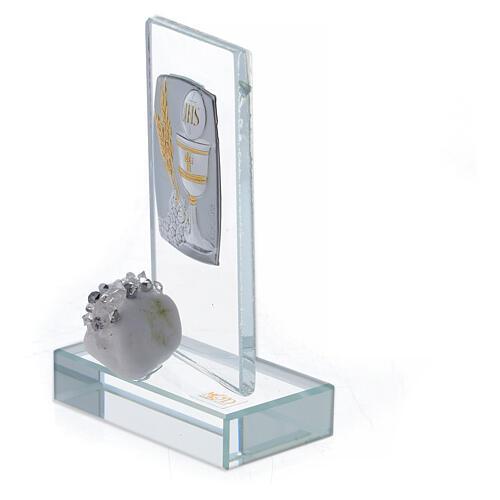 Souvenir verre Communion calice et épis 2