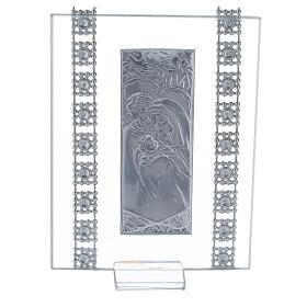 Cuadrito vidrio y cuentas strass Sagrada Familia s3