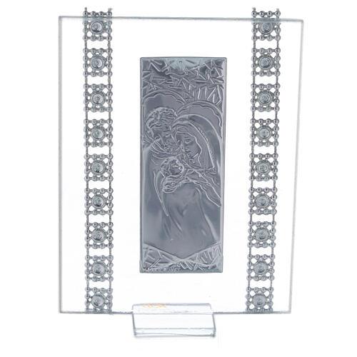 Quadretto vetro e strass Sacra Famiglia 3