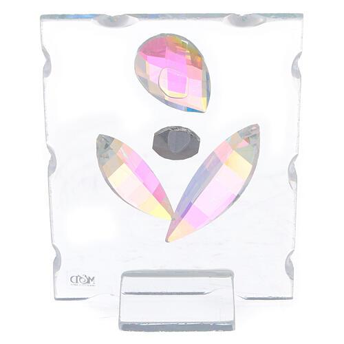 Cuadrito maternidad estilizada vidrio 3