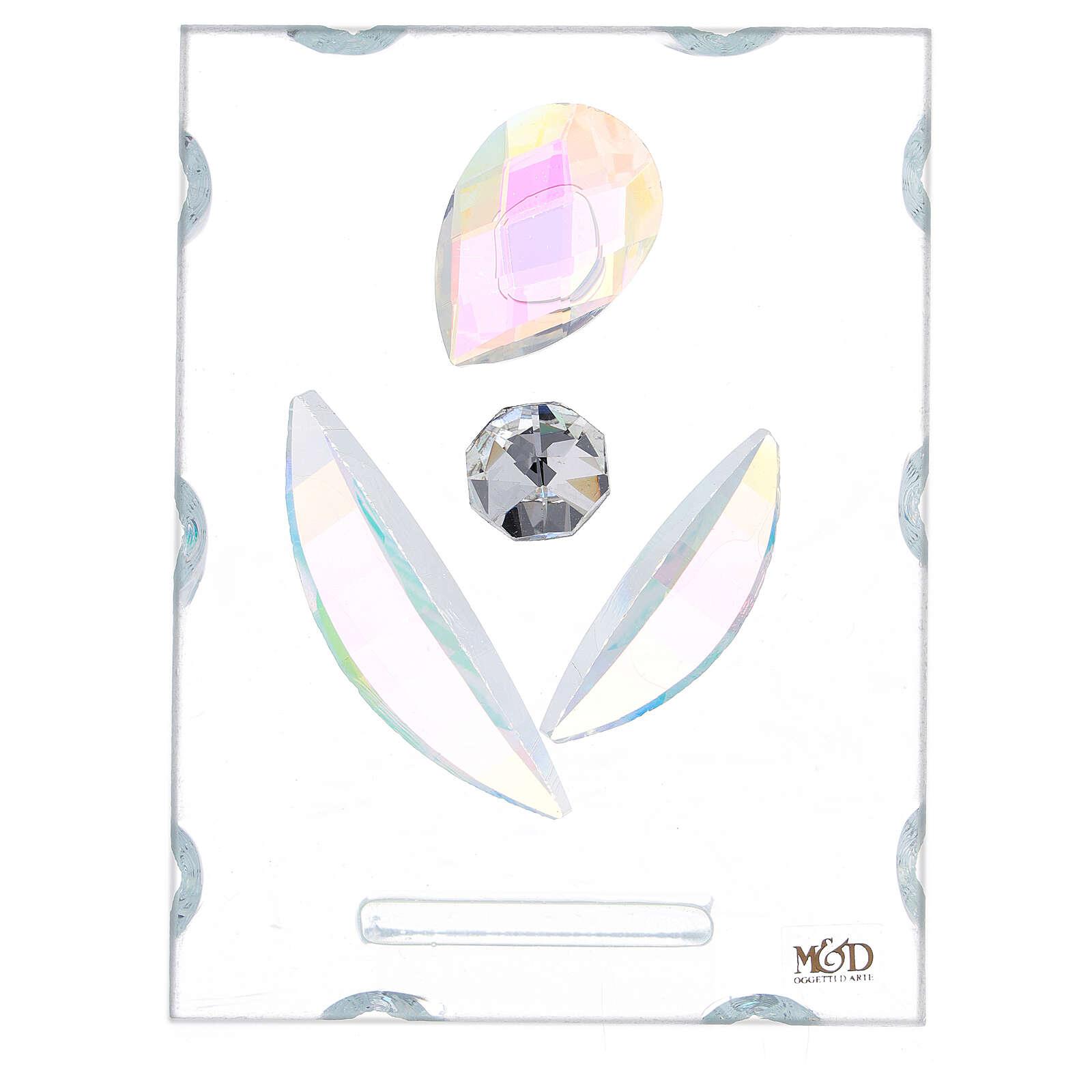 Quadretto maternità stilizzata vetro 3