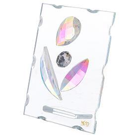 Quadretto maternità stilizzata vetro s2
