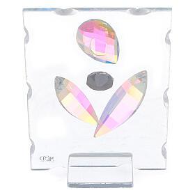 Quadretto maternità stilizzata vetro s3