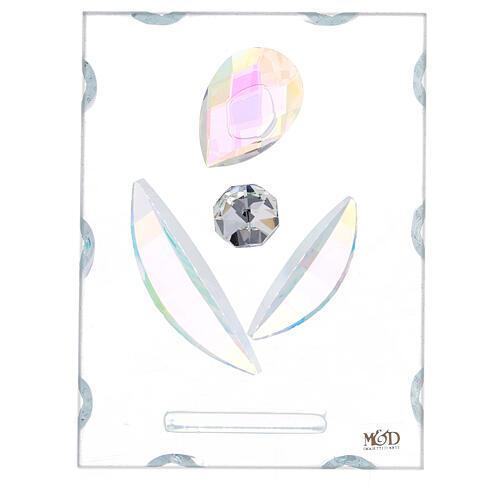 Quadretto maternità stilizzata vetro 1