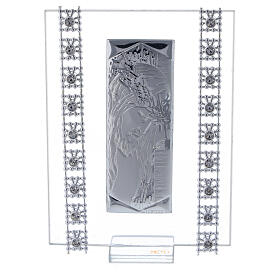 Picture Chirst silver foil and rhinestones s1
