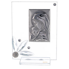Picture childbirth glass with rhinestones s1