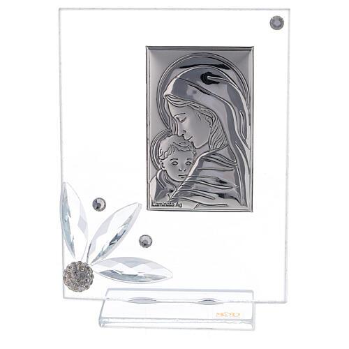 Picture childbirth glass with rhinestones 1