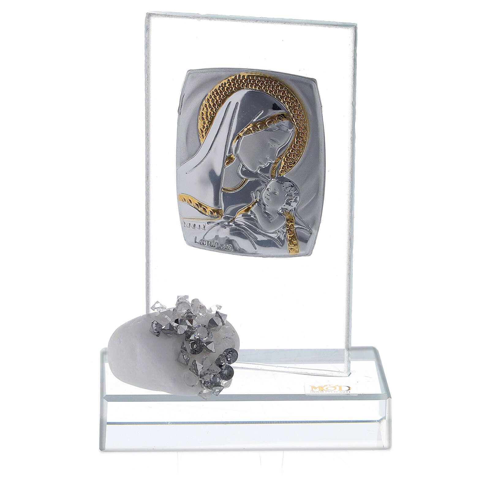 Recuerdo nacimiento vidrio con cuentas strass 3