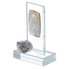Recuerdo nacimiento vidrio con cuentas strass s2