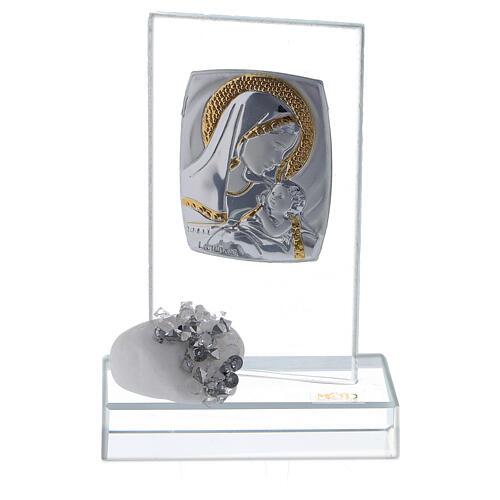Recuerdo nacimiento vidrio con cuentas strass 1