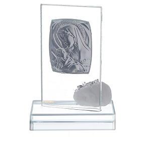 Bomboniera nascita vetro con strass s3