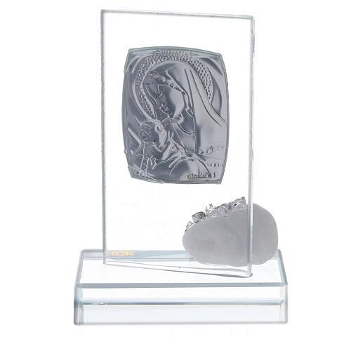 Bomboniera nascita vetro con strass 3