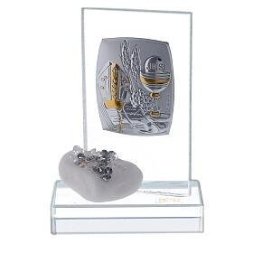 Bomboniera Cresima pietra di marmo e strass  s1