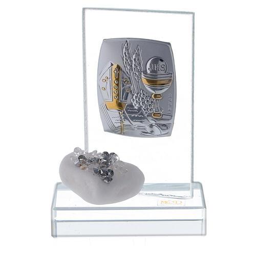 Bomboniera Cresima pietra di marmo e strass  1